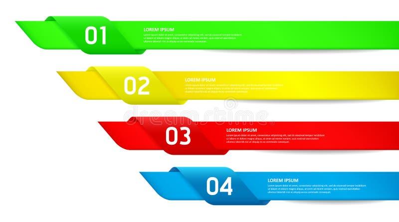 Kleurrijke Moderne de optiesmalplaatje van de Ontwerpstijl/ca stock illustratie