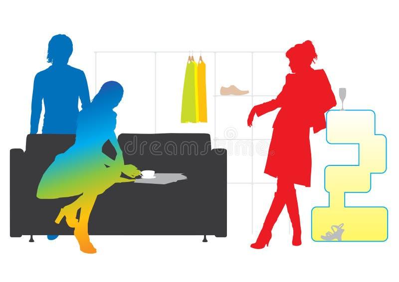 Kleurrijke moderne levensstijl royalty-vrije illustratie