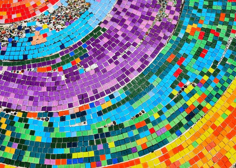 Kleurrijke mozaïekachtergrond stock foto's
