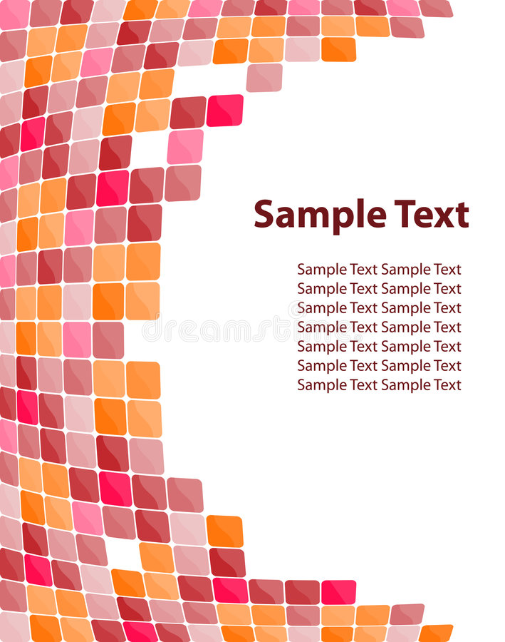 Kleurrijke mozaïekachtergrond stock illustratie