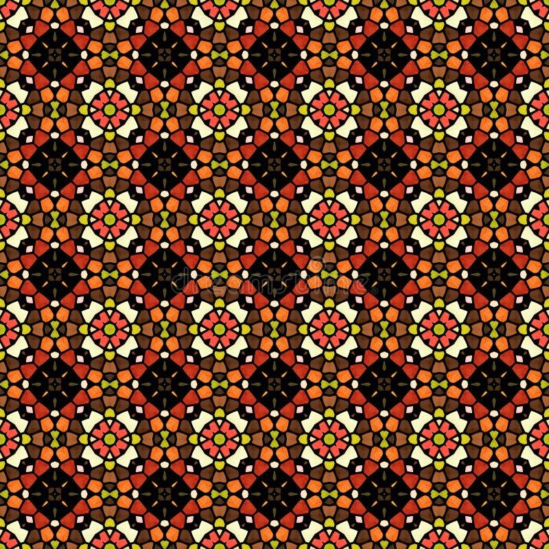 Kleurrijke mozaïekachtergrond in caleidoscoopstijl stock illustratie