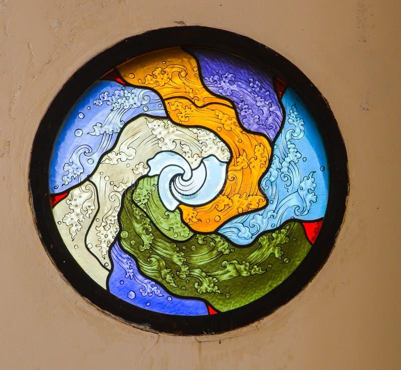 Kleurrijke mozaïekkunst en abstracte muurachtergrond. stock foto