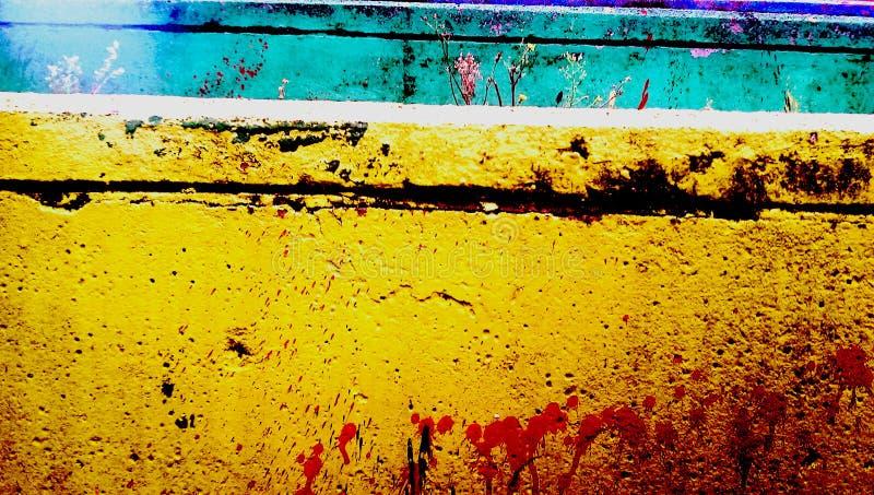 Kleurrijke muur royalty-vrije stock foto's