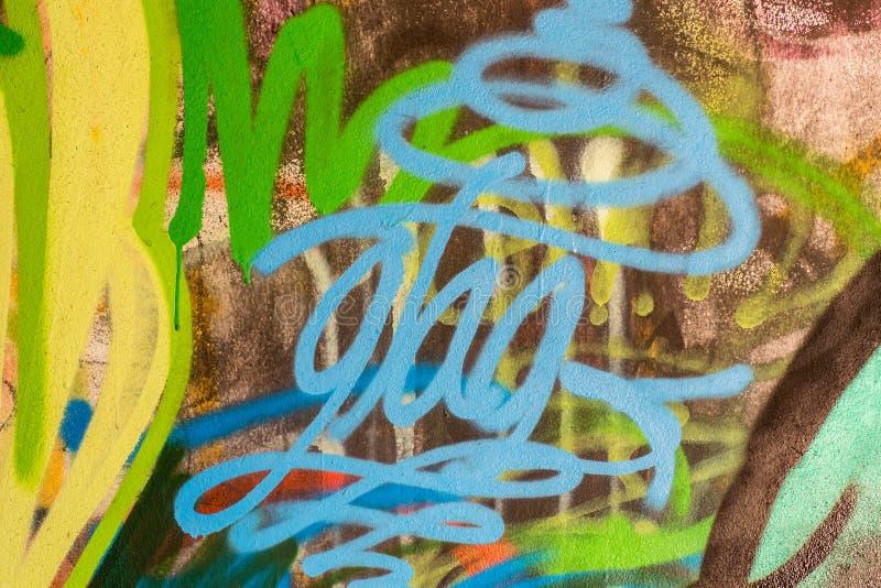 Kleurrijke muurtextuur Concrete, doorstane, versleten muur beschadigde verf Grungy concrete oppervlakte royalty-vrije illustratie