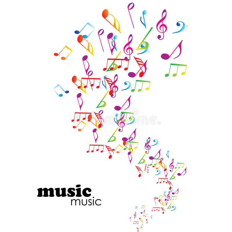 Kleurrijke muziekachtergrond royalty-vrije illustratie