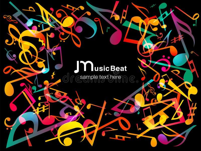 Kleurrijke muzieknota's Vectorillustratie Abstracte achtergrond royalty-vrije illustratie
