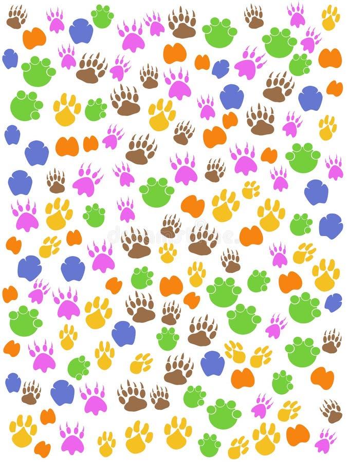 Kleurrijke naadloze dierenvoetafdruk vector illustratie