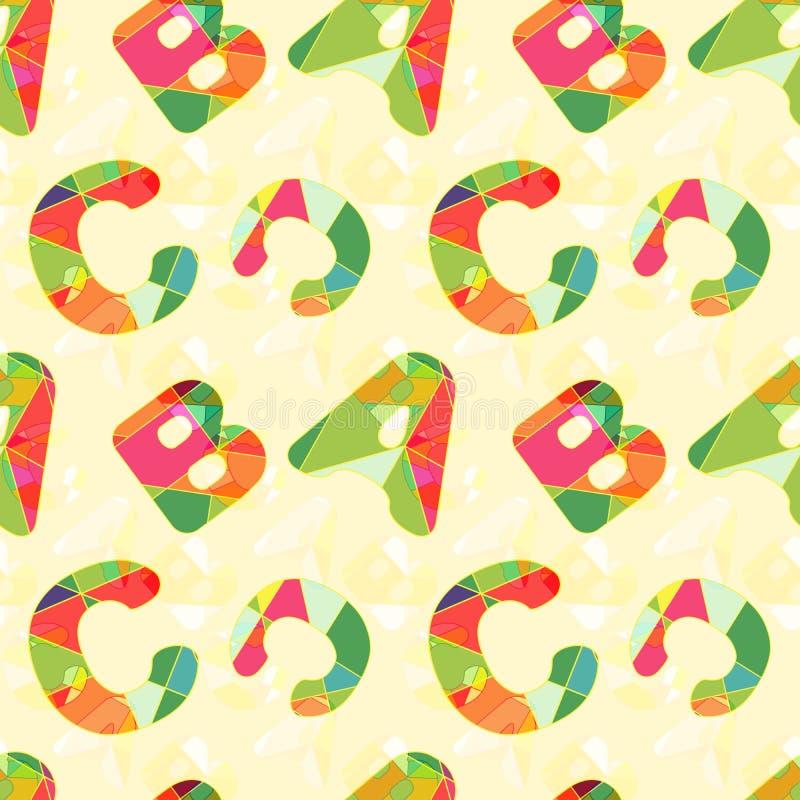 Kleurrijke Naadloze het Patroonachtergrond van ABC stock illustratie