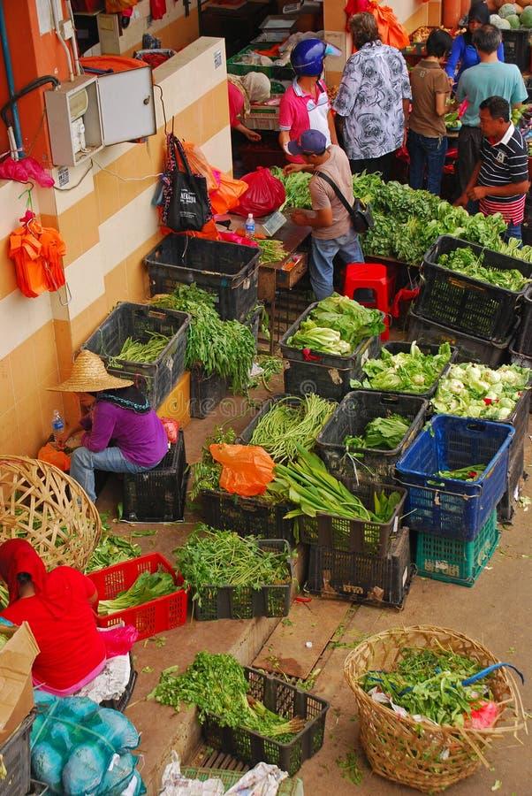 Kleurrijke Natte Markt in Azië stock afbeelding