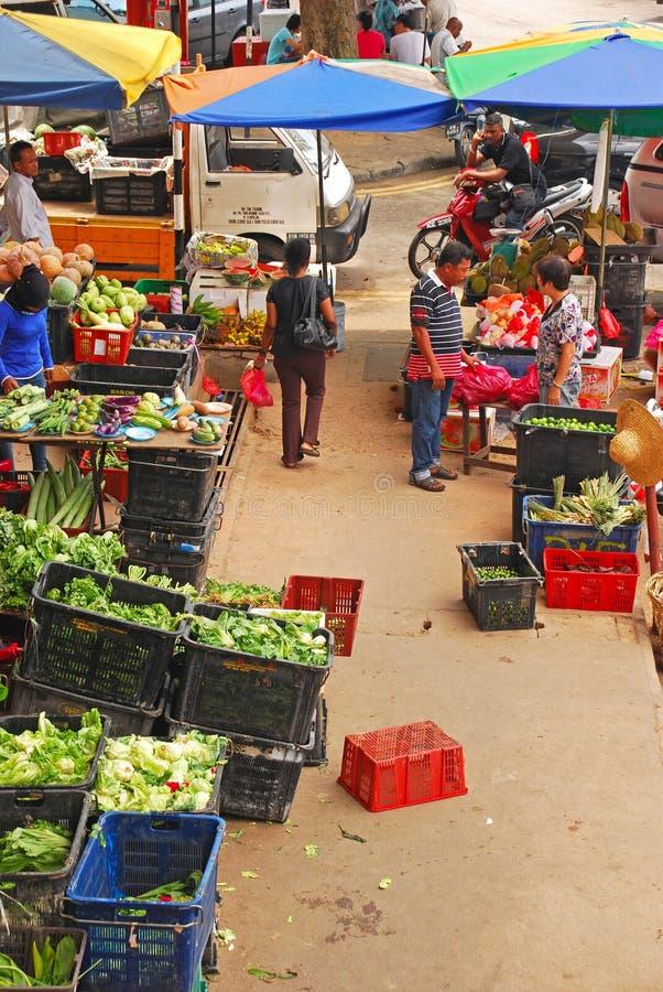 Kleurrijke Natte Markt in Azië royalty-vrije stock afbeeldingen