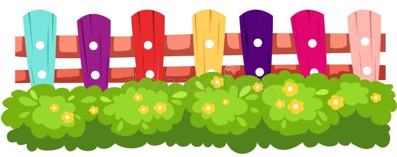 Kleurrijke omheining stock illustratie