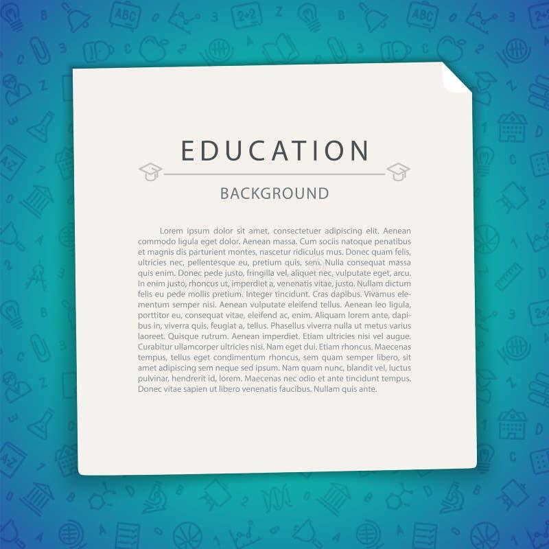 Kleurrijke Onderwijsachtergrond met Exemplaarruimte royalty-vrije illustratie