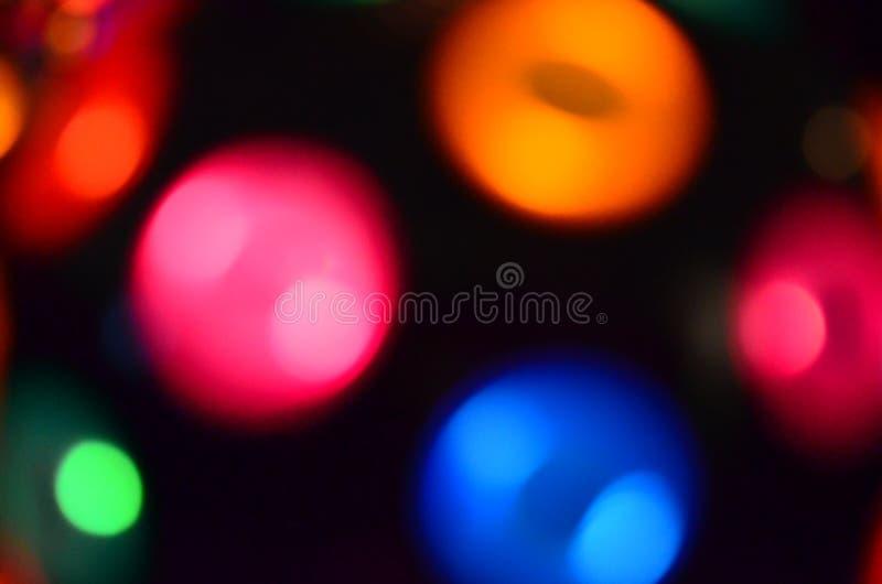 Kleurrijke Onscherpe Lichten stock fotografie