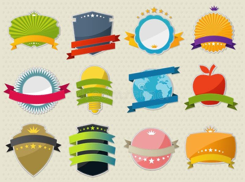 Kleurrijke ontwerpelementen. stock illustratie