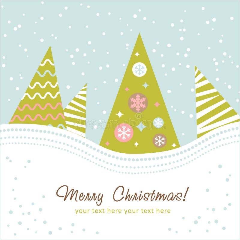 Kleurrijke ontwerpKerstboom stock illustratie