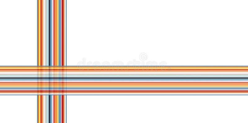 Kleurrijke opgestelde streep en kruis vector illustratie