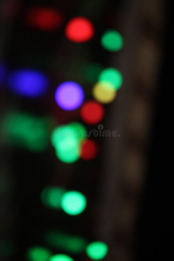 Kleurrijke opvlammende lichten rode groenachtig blauwe lampen stock fotografie