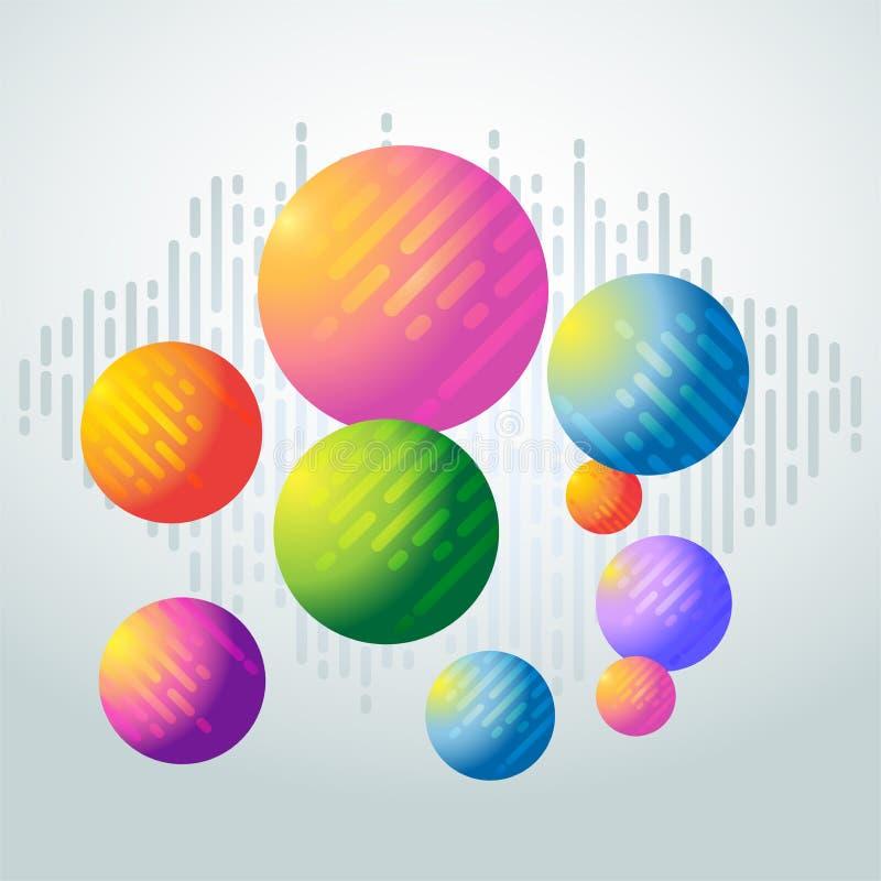 Kleurrijke orbs als achtergrond - geometrische abstracte achtergrond vector illustratie