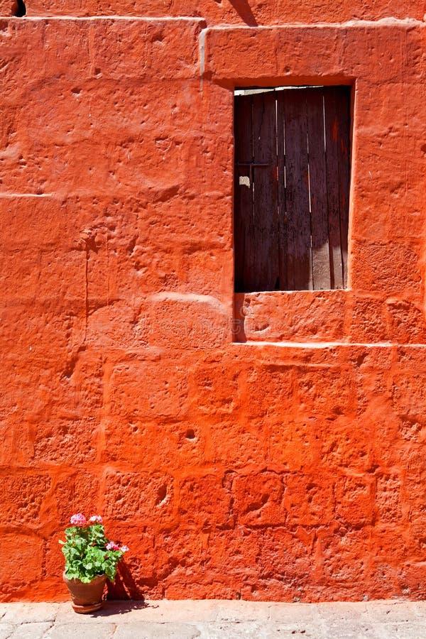 Kleurrijke oude architectuurdetails, Cuzco, Peru. royalty-vrije stock foto's