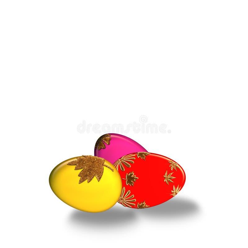 Kleurrijke paaseieren royalty-vrije stock foto