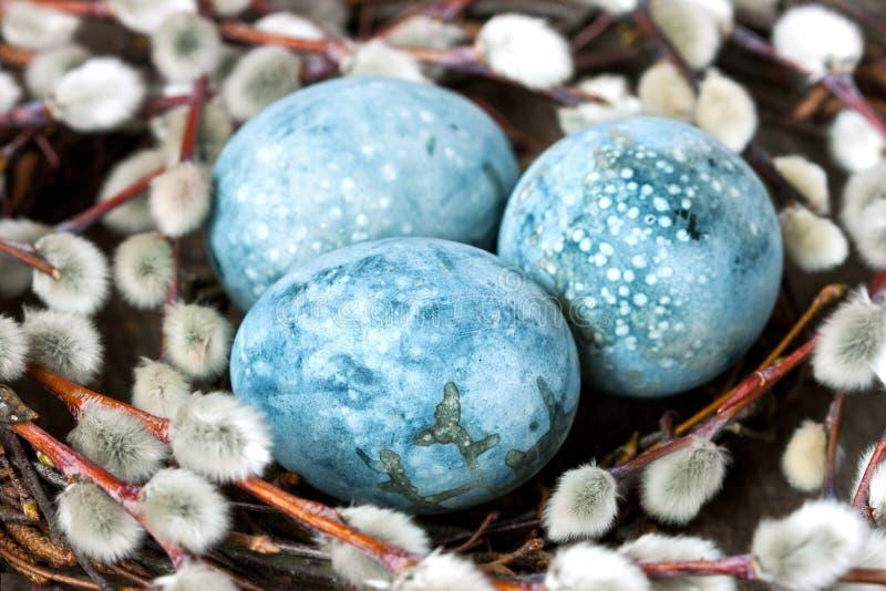 Kleurrijke paaseieren, de achtergrond van de de lentevakantie royalty-vrije stock foto