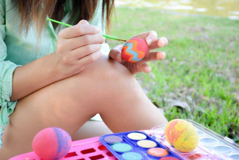 Kleurrijke paaseierenvakantie stock afbeelding