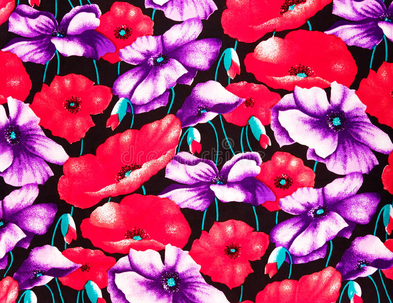 Kleurrijke papaversstof royalty-vrije stock afbeelding
