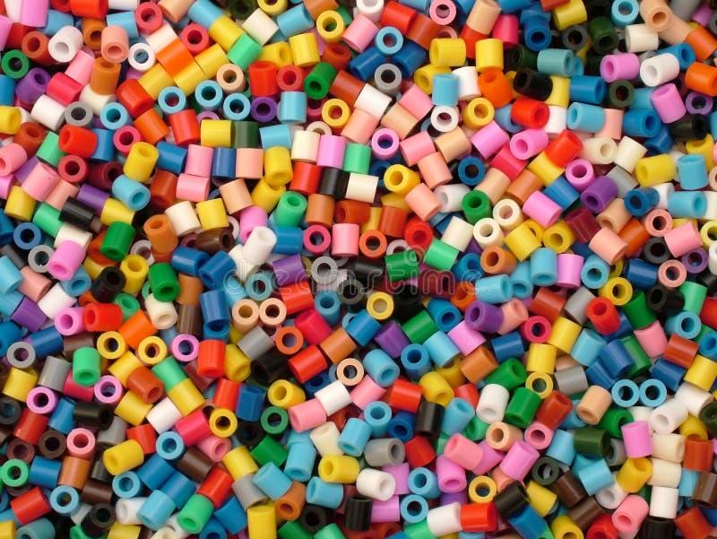 Kleurrijke parels stock afbeelding