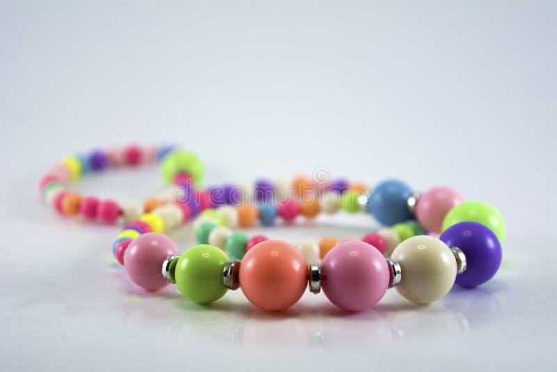 Kleurrijke parelsketting royalty-vrije stock afbeelding