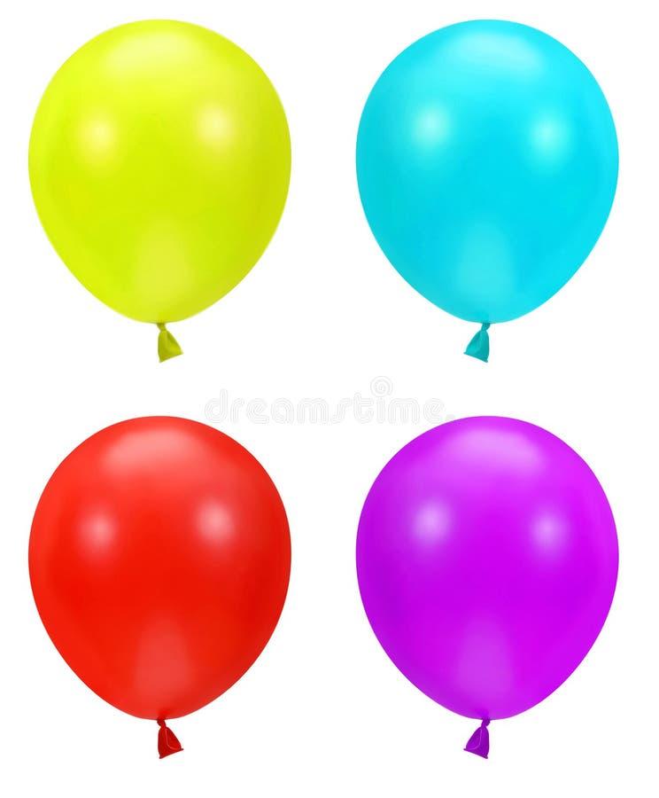 Kleurrijke partijballons stock illustratie