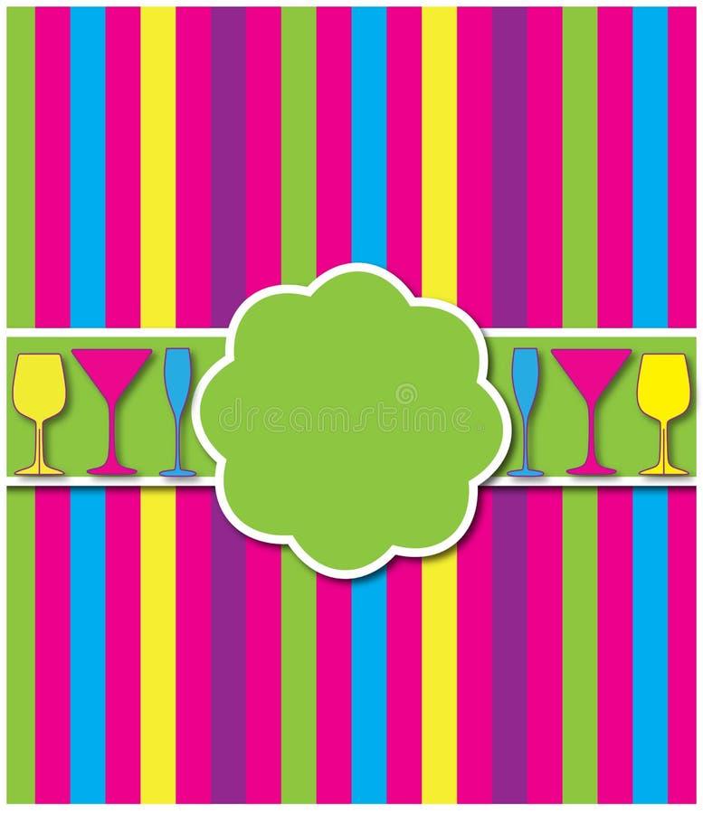 Kleurrijke partijuitnodiging royalty-vrije stock foto