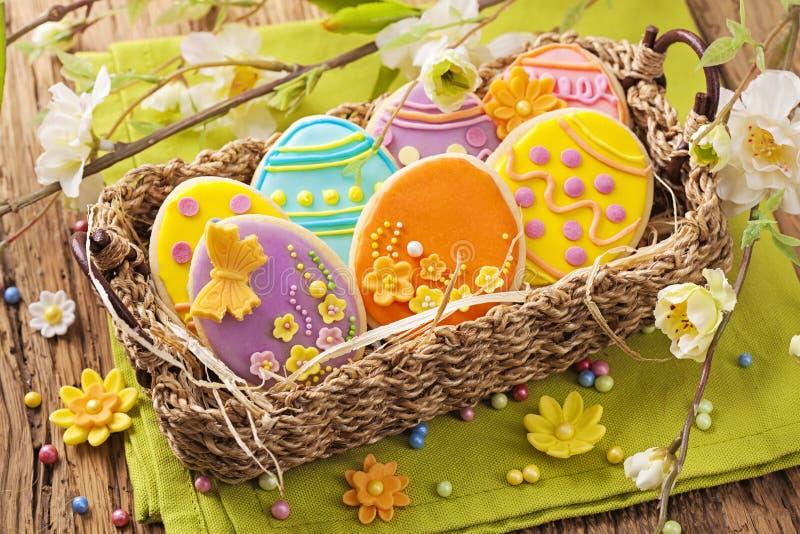 Kleurrijke Pasen-koekjes royalty-vrije stock afbeelding
