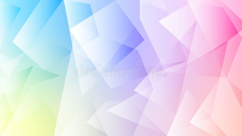 Kleurrijke Pastelkleurachtergrond met Veelhoekig Patroon stock illustratie