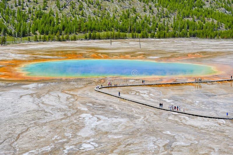 Kleurrijke patronen in de algen en de bacteriënlagen van Grand royalty-vrije stock afbeelding