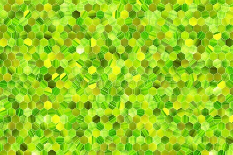 Kleurrijke patroon hexagon strook, achtergrond of textuur voor ontwerp royalty-vrije illustratie