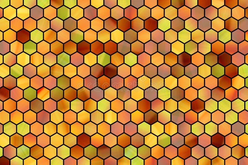 Kleurrijke patroon hexagon strook, achtergrond of textuur voor ontwerp vector illustratie