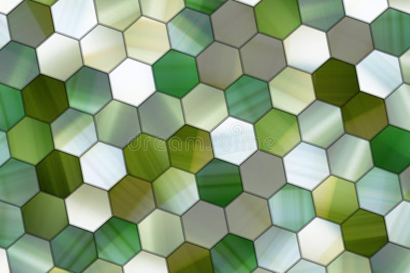 Kleurrijke patroon hexagon strook, achtergrond of textuur voor ontwerp stock illustratie