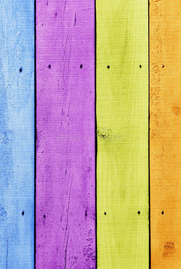 Kleurrijke planken royalty-vrije stock afbeeldingen