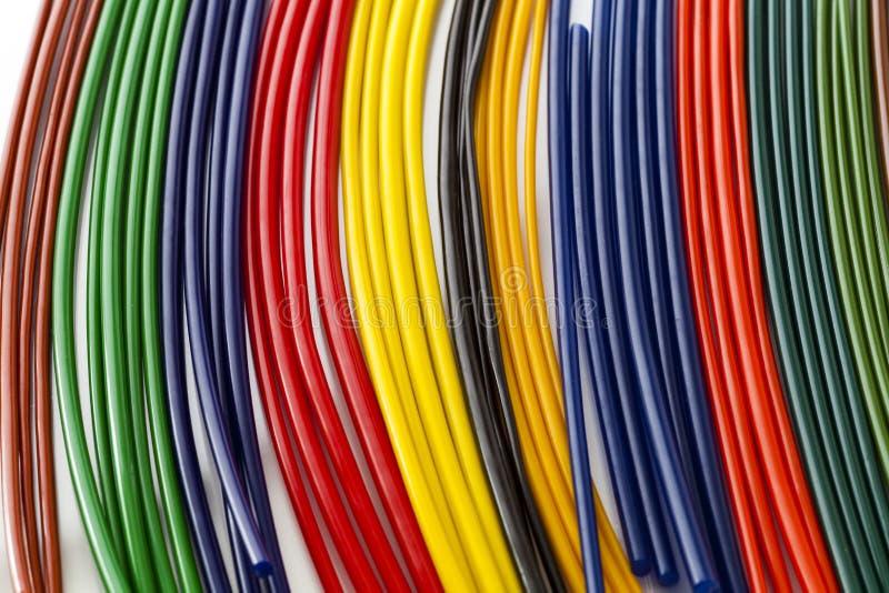 Kleurrijke plastic buizen royalty-vrije stock foto