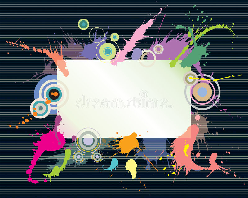 Kleurrijke plons en tekstruimte royalty-vrije illustratie