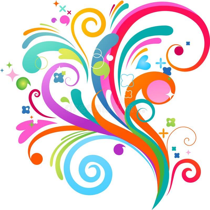 Kleurrijke plonsachtergrond stock illustratie