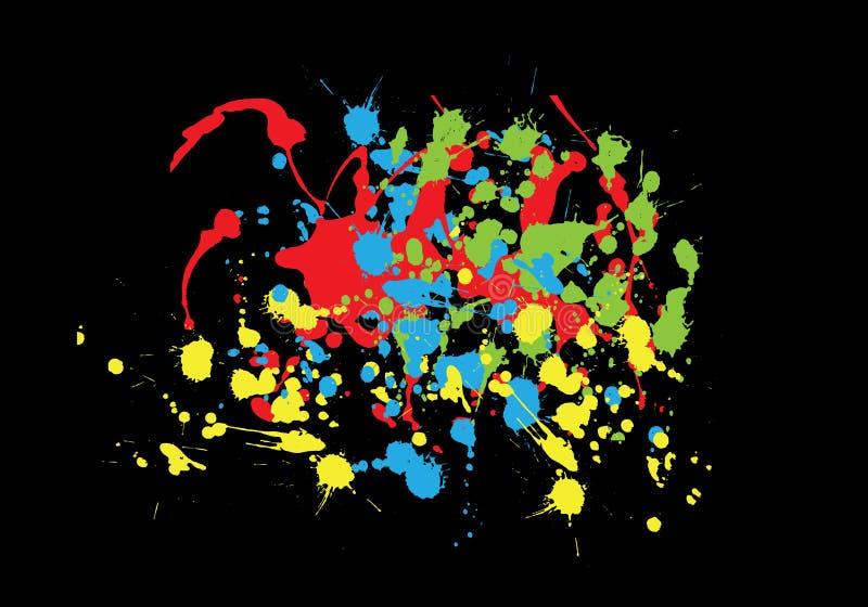 Download Kleurrijke plonsen vector illustratie. Illustratie bestaande uit illustratie - 10777430