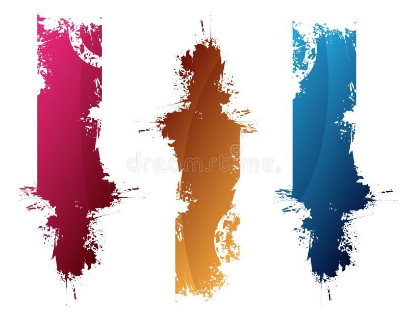 Kleurrijke plonsen royalty-vrije illustratie