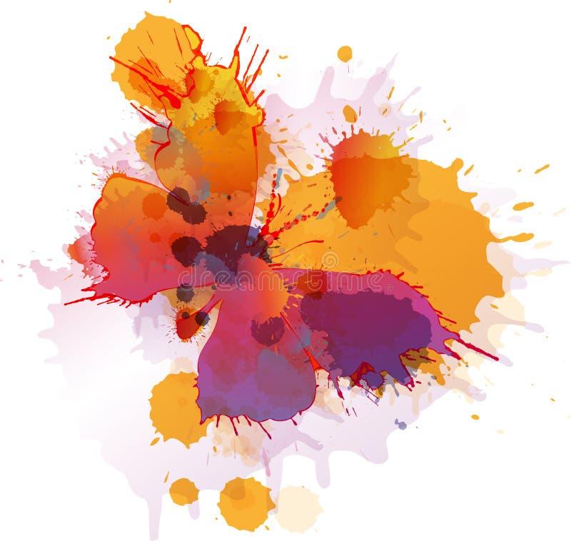 Kleurrijke plonsenvlinder stock illustratie