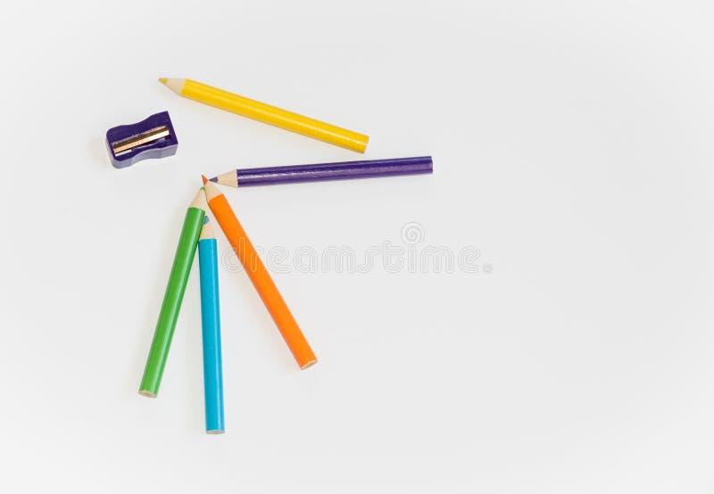 Kleurrijke pnecils stock afbeelding