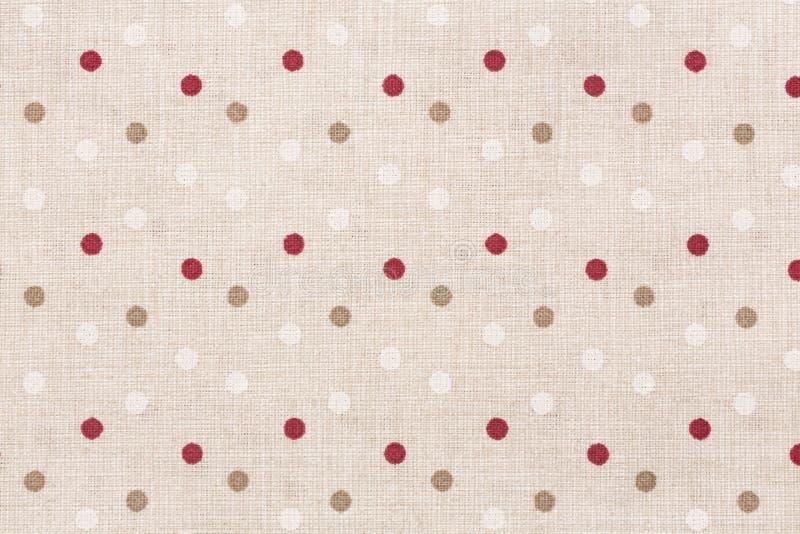 Kleurrijke polka gestippelde textiel met exemplaarruimte royalty-vrije stock foto's