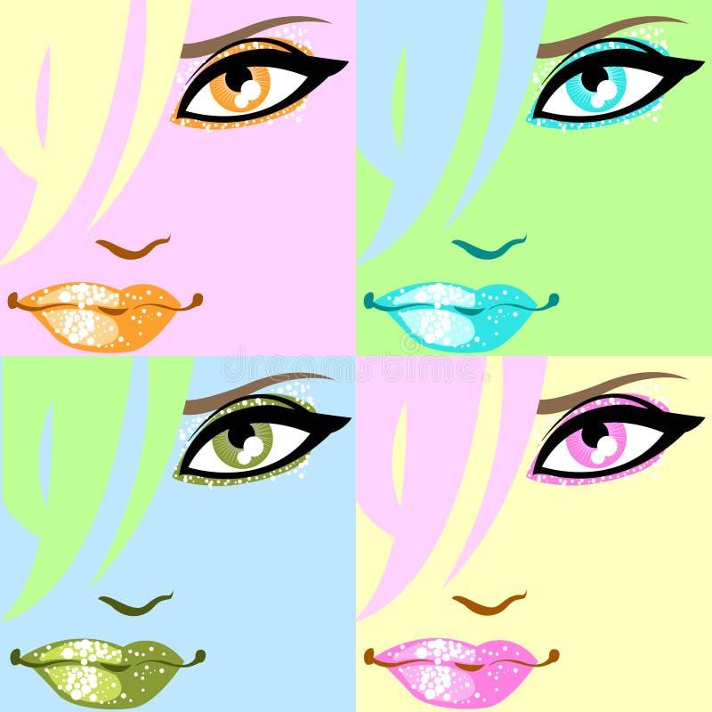 Kleurrijke pop-kunstaffiche vector illustratie