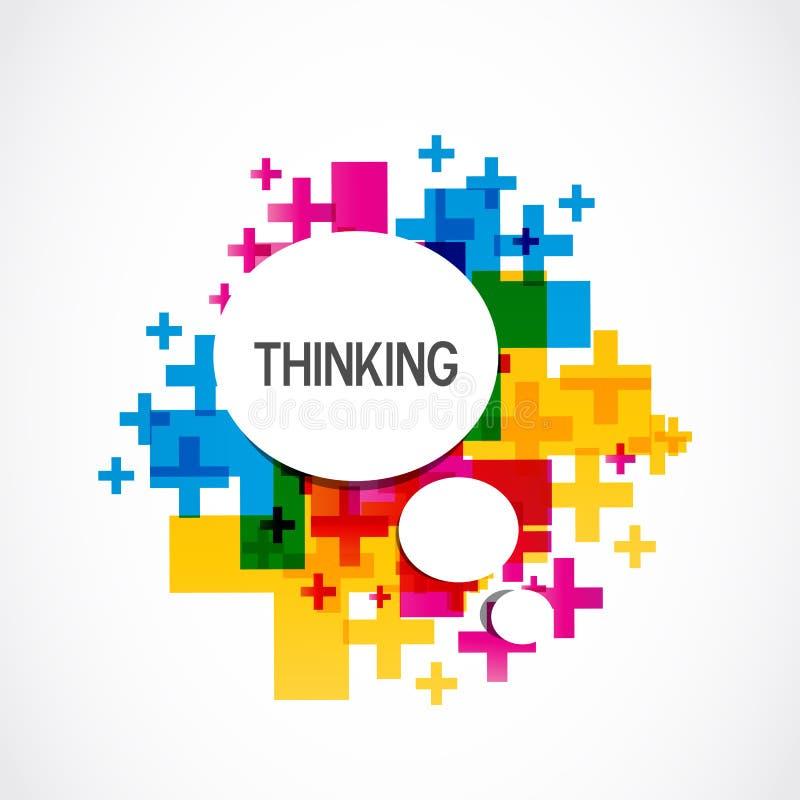 Kleurrijke Positieve het Denken Achtergrond vector illustratie