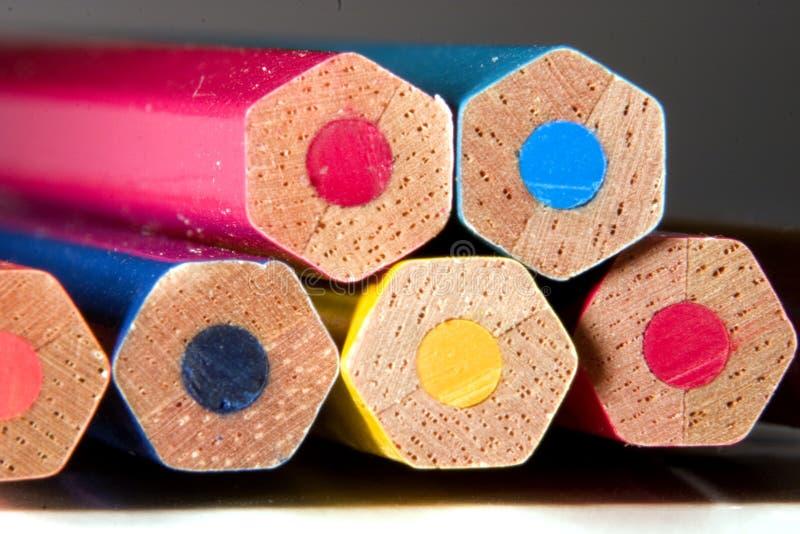 Kleurrijke potloden royalty-vrije stock foto