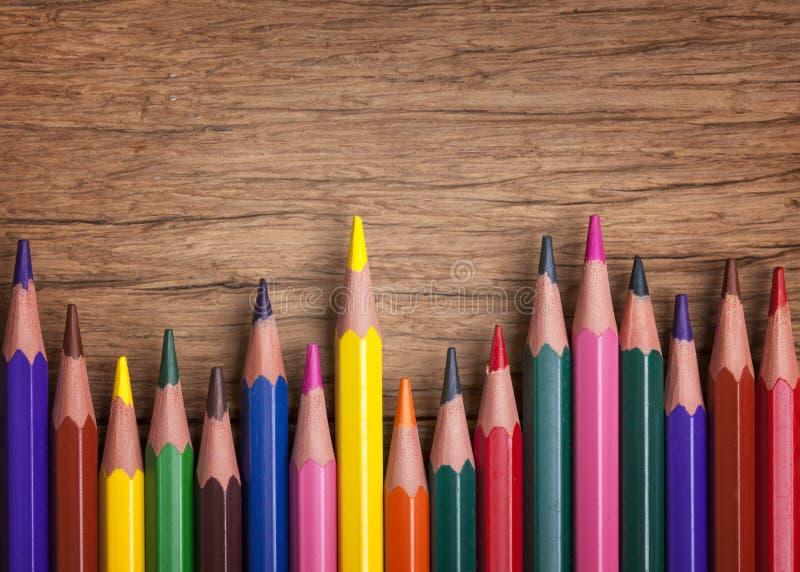 Kleurrijke potloden stock foto's